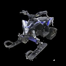 Десткий снегоход электрический Gekkon Snow 1300W (Снегоцикл) черно- синий (до 30 км/ч, дисковые тормоза, до 60 кг)